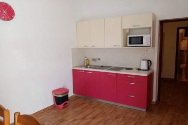 Apartments Peric Marija, kitchen and dining room, microwave, kettle