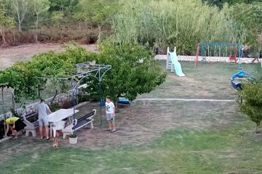 playground in the garden, apartments Peric Marija in Lopar